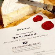 £10 cheese gift voucher