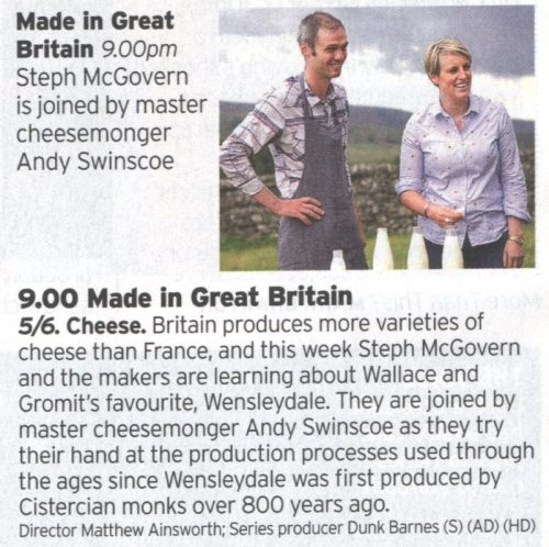 BBC 2 Wensleydale Cheese Programme