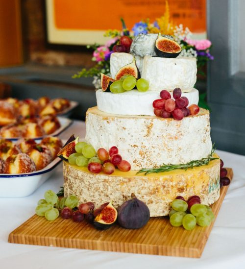 Alice and Sinead Cheese Wedding Cake
