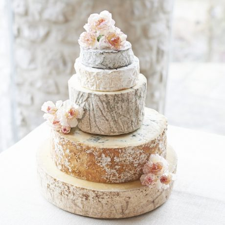Amethyst cheese wedding cake tower