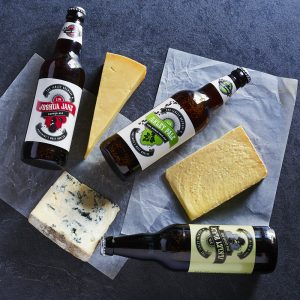 Beer and cheese selection