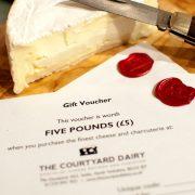 Cheese gift voucher