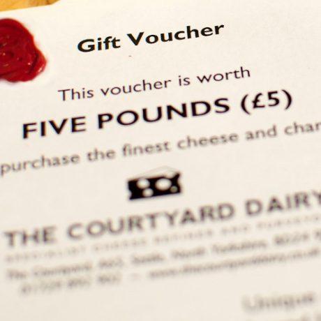 Cheese gift voucher £5
