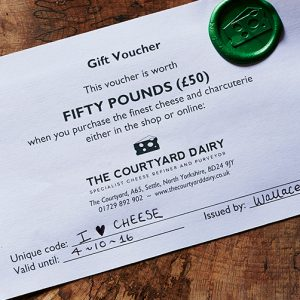 Cheese gift voucher £50