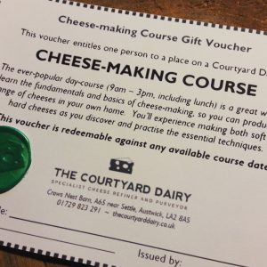 Cheese Making Course Gift Voucher