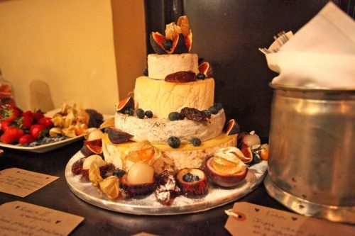 Cheese wedding cake customer 2