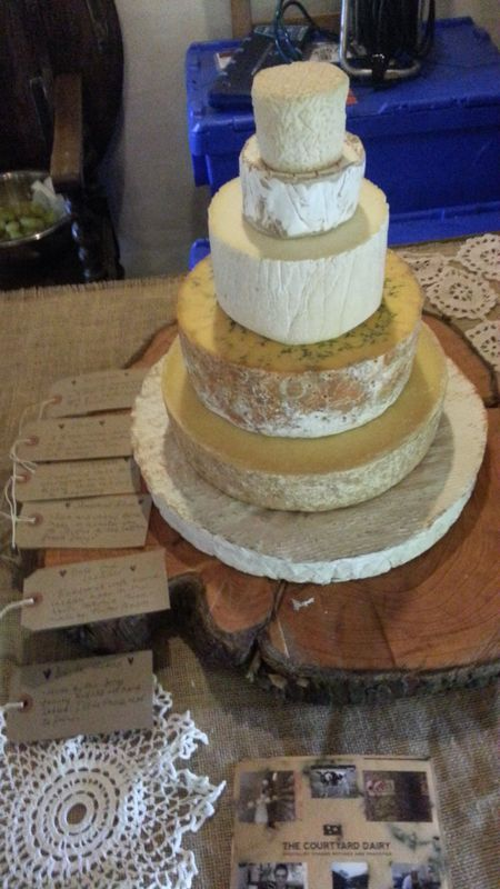 Cheese wedding cake customer 5