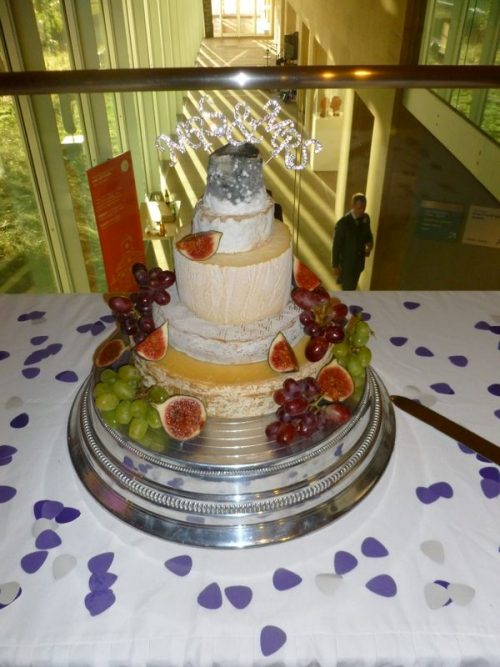 Cheese wedding cake customer 6