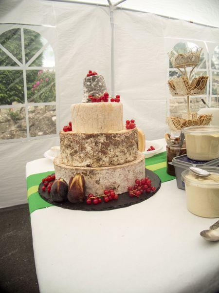 Cheese wedding cake tower photo
