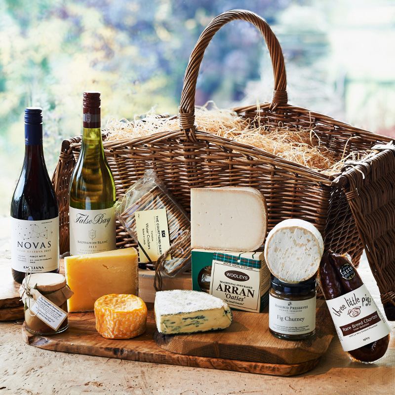Huntsman S Cheese And Wine Hamper The Courtyard Dairy