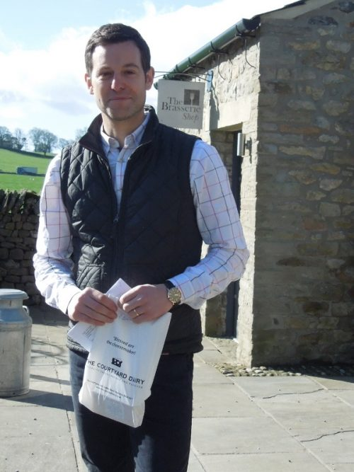 Matt Baker at the cheese shop