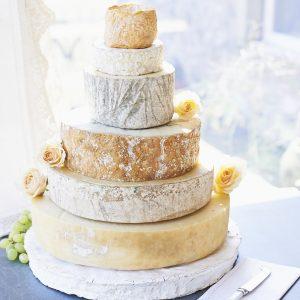 Diamond cheese wedding cake