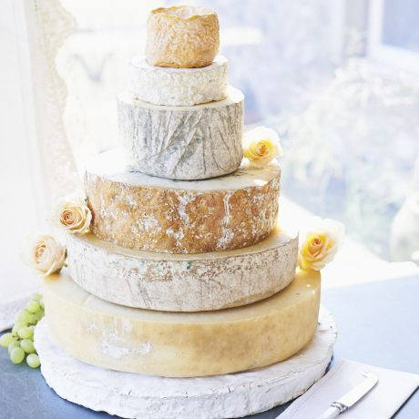 Diamond cheese wedding cake