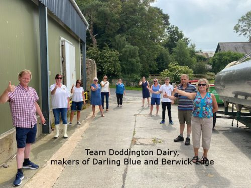 Doddington team of Darling Blue and Berwick Edge Cheese