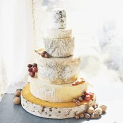 Emerald cheese wedding cake