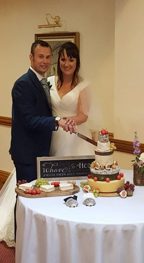 K Sanderson Cheese Wedding Cake