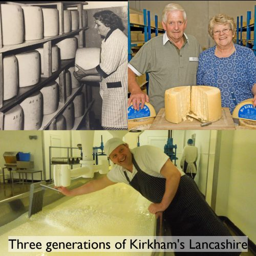Three Generations of Kirkhams Cheese