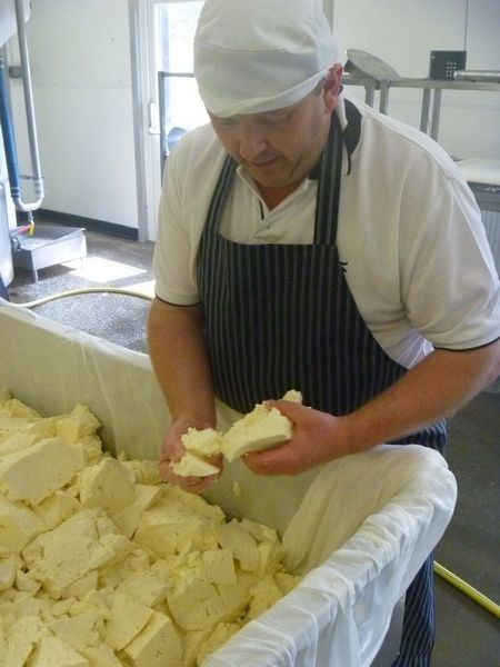 Kirkhams making creamy lancashire cheese