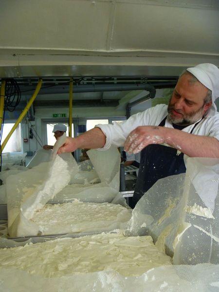 Ladling dorstone cheese