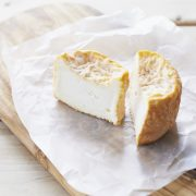 Langres cheese cut