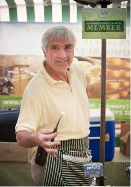 Mike Smales with Old Winchester Cheese