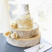 Pearl cheese wedding cake tower