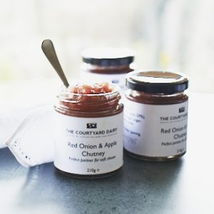 Red onion and apple chutney