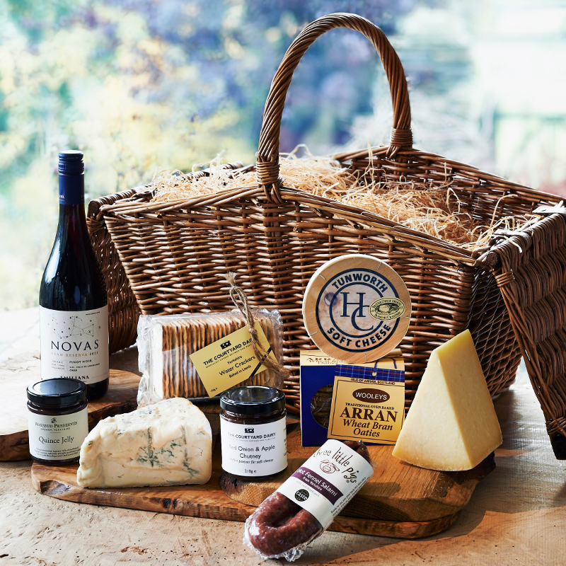 Simply Delicious Cheese And Wine Hamper The Courtyard Dairy