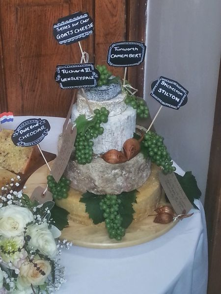 Wedding cheese cake tower photo